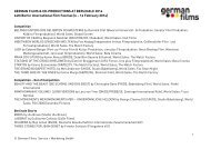 Press Release 10 August 2012 - German Films