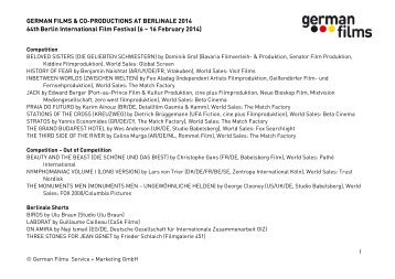 Press Release 10 August 2012 - German Films