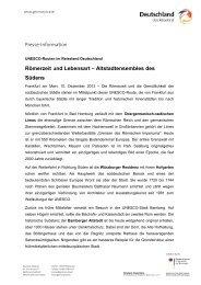 Römerzeit und Lebensart – Altstadtensembles des Südens - Germany