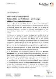 Wanderwege, Naturerlebnis und Fachwerkhäuser - Germany