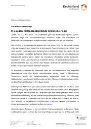 In einigen Teilen Deutschlands sinken die Pegel - Germany