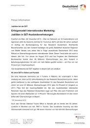 Jubiläen in DZT-Auslandsvertretungen - Germany
