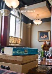 download menus & venue details - Geronimo Inns