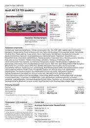 Audi A6 3.0 TDI quattro Price - Autohaus Gerstenmaier