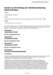 Gesetz zur Errichtung der Unfallversicherung Bund und Bahn