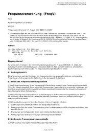 Frequenzverordnung (FreqV) - Gesetze im Internet