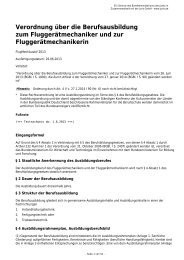 Verordnung über die Berufsausbildung zum Fluggerätmechaniker ...