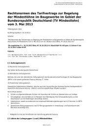 Rechtsnormen des Tarifvertrags zur Regelung der Mindestlöhne im ...