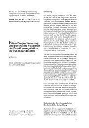 Gruppe 7: Fetal Programming - Stress, kognitive Entwicklung und ...