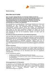 130821_MM_BGF Tagung_DT - Gesundheitsförderung Schweiz