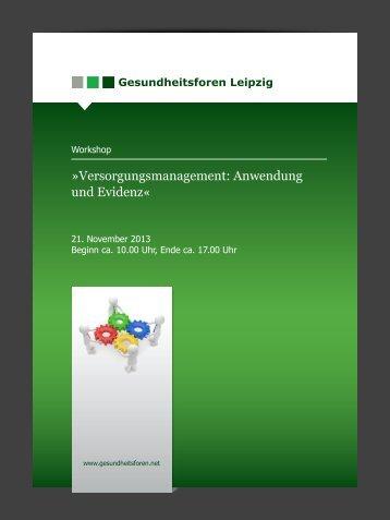 Versorgungsmanagement: Anwendung und Evidenz«