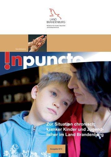 Zur Situation chronisch kranker Kinder und Jugend- licher im Land ...