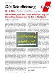 Die Schulleitung - Gewerkschaft Erziehung und Wissenschaft Baden ...