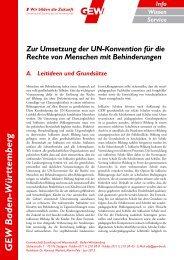 GEW Baden-Württemberg - Gewerkschaft Erziehung und ...