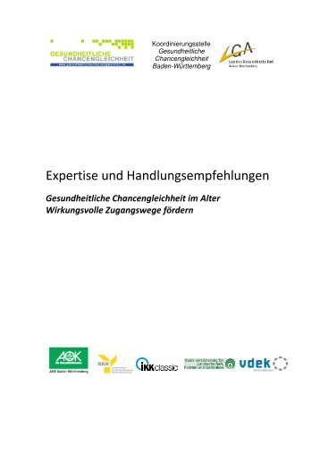 """Expertise """"Gesundheitliche Chancengleichheit im Alter ..."""