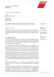 Stellungnahme des DGB - Gewerkschaft Erziehung und Wissenschaft