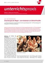 Spiel- und Theaterpädagogik: Dramaturgie der Magie