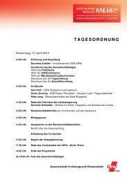TAGESORDNUNG - GEW