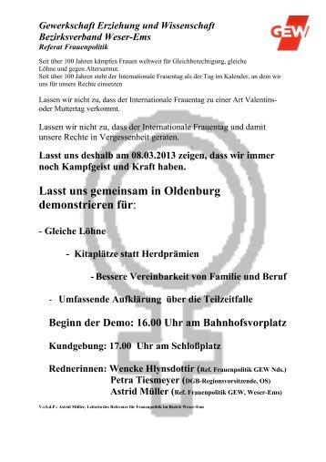 Aufruf - GEW Niedersachsen