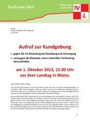 Aufruf zur Kundgebung - GEW Rheinland-Pfalz