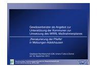 Gewässerberater als Angebot zur Unterstützung der ... - GfG