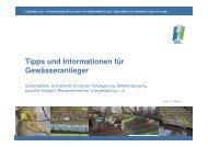 Vortrag zu Tipps und Informationen für Gewässeranlieger ... - GfG