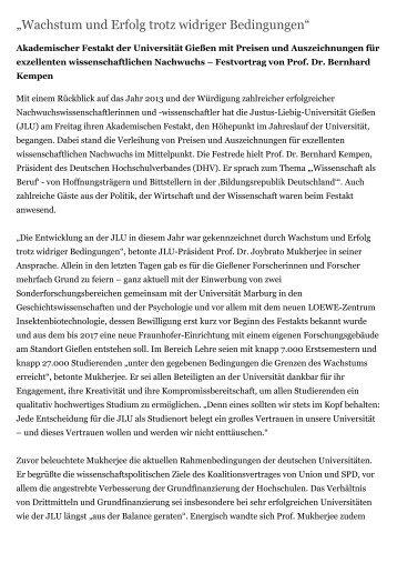Pressemitteilung der JLU zum Download - Gießener ...