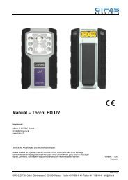 Manual TorchLED UV - GIFAS ELECTRIC GmbH