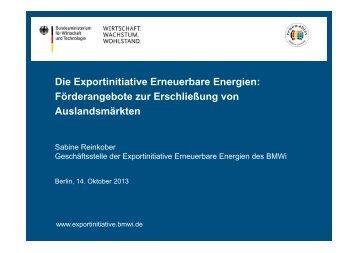 Die Exportinitiative Erneuerbare Energien: Förderangebote zur ... - GIZ