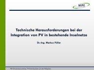 Technische Herausforderungen bei der Integration von PV in ... - GIZ