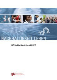 GIZ Nachhaltigkeitsbericht 2013