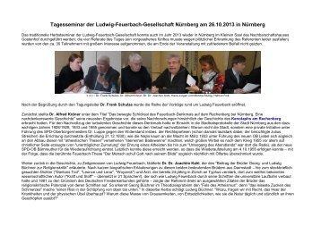 Download Rückblick Feuerbach-Seminar 2013 - Gesellschaft für ...