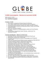 GLOBE Vereinsmitglieder – Membres de l'association GLOBE