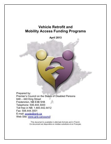 Vehicle Retrofit and Mobility Access Funding Programs