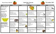 Adult Day Program November 2013 - Broome County, NY