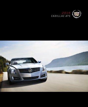 2014 Canadian Cadillac ATS Catalog - GM Canada