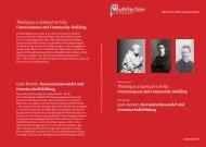 Thinking as a Spiritual Activity: Consciousness and ... - Goetheanum