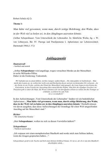 Robert Schulz: Anklagepunkt - Goetheschule