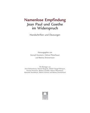Namenlose Empfindung - Goethehaus Frankfurt