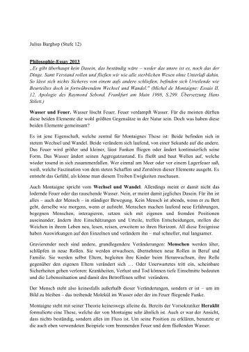 Julius Barghop (Stufe 12) Philosophie-Essay 2013 ... - Goetheschule
