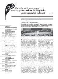 Anthroposophie weltweit - Goetheanum