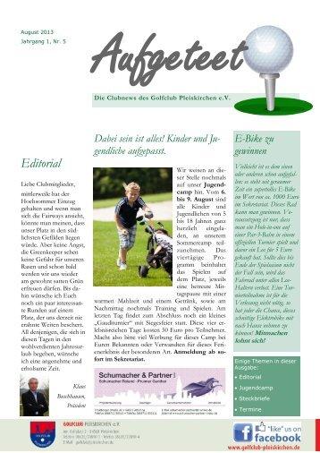 Aufgeteet, Ausgabe 5 - Golfclub Pleiskirchen