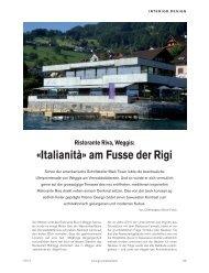 Mediterranes Ambiente im Ristorante Riva, Weggis