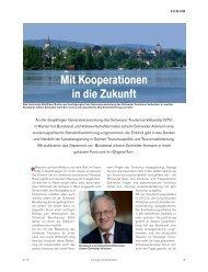 So geht's weiter im Schweizer Tourismus