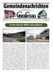 In der Neuen Mitte wird gebaut - Grafenau