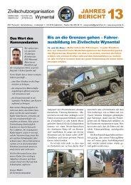 Jahresbericht 2013 - Gemeinde Gränichen