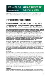 Pressemitteilung - Museum für Kunsthandwerk