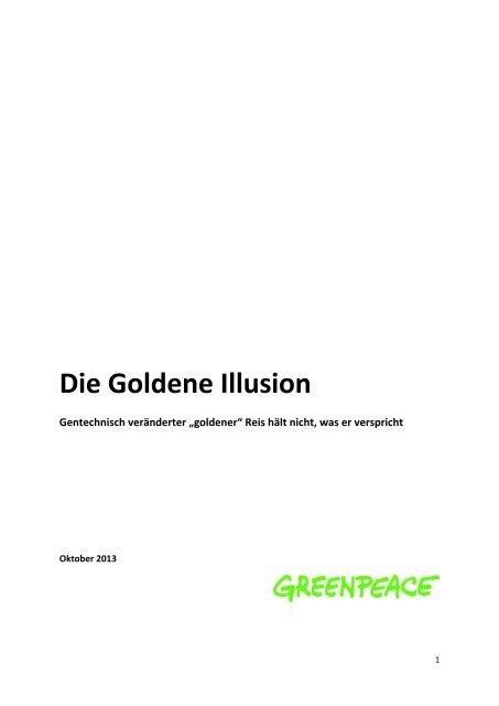 Golden Rice - die Goldene Illusion - Greenpeace