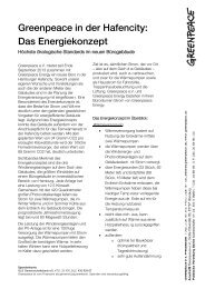 Greenpeace in der Hafencity: Das Energiekonzept