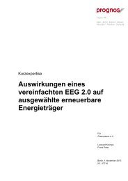 Kurzexpertise zur EEG -Reform PROGNOS - Greenpeace